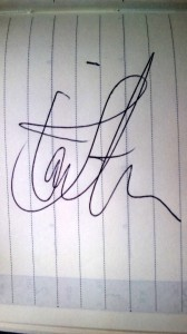 Tomi Joutsenにもらったサイン
